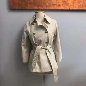 J. Crew Belted Canvas Trench Coat